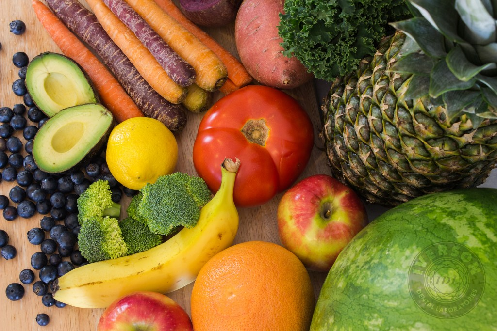 Fruits and vegetables are healthy foods for your teeth